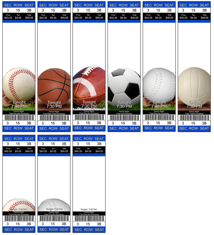 Doc 600253 sports ticket template custom baseball for Sports ticket template free download
